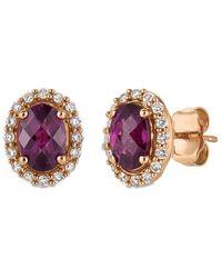 Le Vian ? 14k Strawberry Gold? 1.89 Ct. Tw. Diamond & Rhodolite Earrings - Multicolour