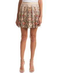Haute Hippie Sagat Silk A-line Skirt - Natural
