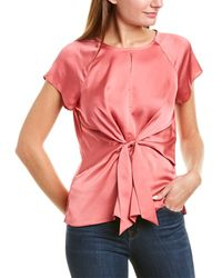 Vince Camuto Tie-front Top - Pink