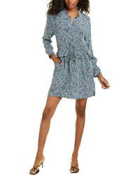 Equipment Lizza Silk Mini Dress - Blue