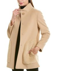 Cinzia Rocca Stand-up Collar Coat - Brown