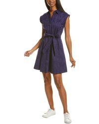 Tori Richard Slim Shady Jodie Shirtdress - Blue