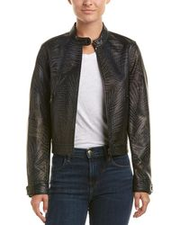 Robert Graham Leather Jacket - Black