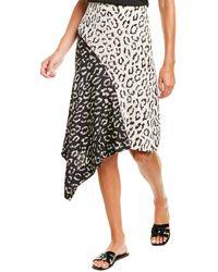 A.L.C. Natalie Silk Midi Skirt - Black