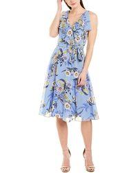 Eliza J A-line Dress - Blue