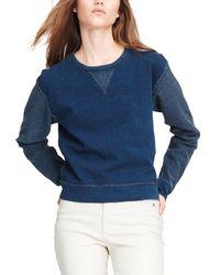 Rag & Bone Indigo Crewneck Sweatshirt - Blue