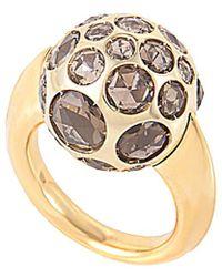Pomellato 18k Rose Gold Quartz Ring - Metallic
