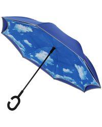 Unique Umbrellas - Blue Self Opening Blue Skies Umbr - Lyst