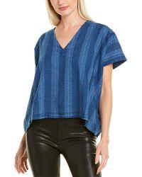 Joie Theola Linen-blend Top - Blue