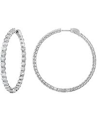 Diana M. Jewels . Fine Jewellery 18k 6.00 Ct. Tw. Diamond Hoop Earrings - Metallic