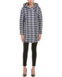 SOIA & KYO - Wool-blend Wrap Coat - Lyst