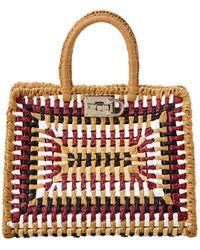 Ferragamo Woven Tote Bag - Multicolour