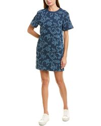 Rag & Bone Esmond Laser-cut Cotton Dress Indigo - Blue