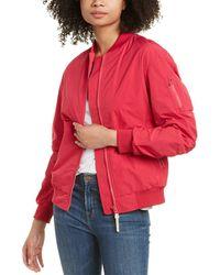 Woolrich Beaver Bomber Jacket - Pink