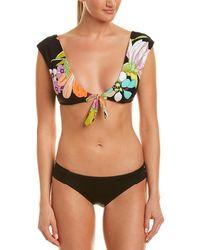 ec65250c31ed96 Ted Baker Ammy Focus Bouquet Bikini Top in Blue - Lyst