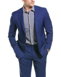 Canali 2pc Wool Suit With Flat Pant - Blue