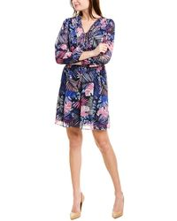 Sam Edelman Tropical Printed A-line Dress - Purple