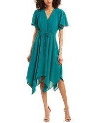 Adrianna Papell Midi Dress - Green
