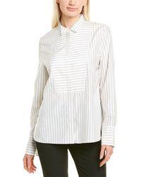 Partow Carter Silk-blend Shirt - White