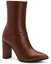 Aquatalia Savannah Weatherproof Leather Bootie - Brown