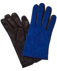 Portolano Suede & Leather Glove - Blue