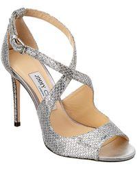 Jimmy Choo Emily 100 Glitter Sandal - Metallic
