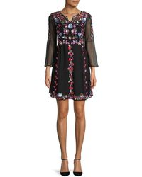 French Connection Edith Shift Dress - Black