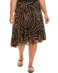 Fuzzi Plus A-line Skirt - Black