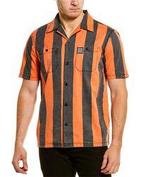 Deus Ex Machina Vertigo Stripe Woven Shirt - Orange