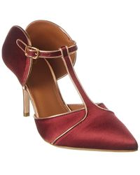 Malone Souliers Imogen 70 Satin Pump - Red