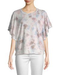 Young Fabulous & Broke Cotton-blend Tie-dye Top - Multicolour