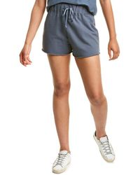 James Perse Fleece Sweat Short - Blue