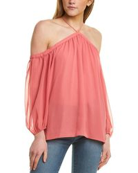 1.STATE - High-neck Blouse - Lyst