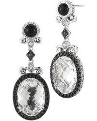 Alor Delatori By Silver 22.00 Ct. Tw. Gemstone & Crystal Drop Earrings - Metallic