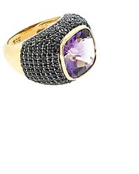 Arthur Marder Fine Jewelry 18k Gold Over Silver Gemstone Ring - Metallic