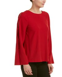 Kensie Button Top - Red