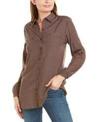 Insight Printed Long Blouse - Brown