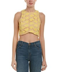 Endless Rose Lace Crop Top - Yellow