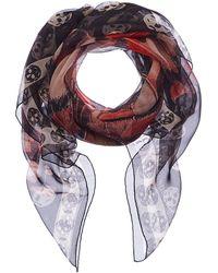 Alexander McQueen - Giant Butterfly Skull Print Silk Scarf - Lyst
