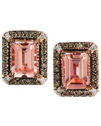 Le Vian ? Chocolatier? 14k Strawberry Gold? 1.83 Ct. Tw. Diamond & Morganite Earrings - Multicolour