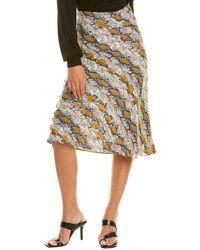 Dance & Marvel Snake Printed Midi Skirt - Multicolour