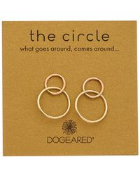 Dogeared Circle Collection Earrings - Metallic