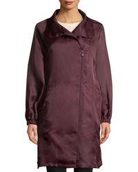 Akris Daylight Silk Long Coat - Purple