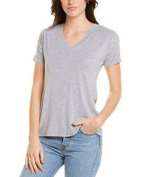 Catherine Malandrino V-neck T-shirt - Grey