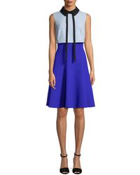 Mikael Aghal - Colorblocked Shirtdress - Lyst