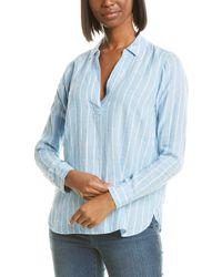 NYDJ Linen Popover Tunic - Blue