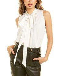 St. John Kerchief Silk Top - White
