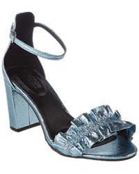 Kenneth Cole Reaction - Rise Ruffle Heeled Sandal - Lyst