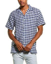 Onia Vacation Linen-blend Shirt - Blue
