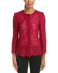 ESCADA Silk-trim Blazer - Red